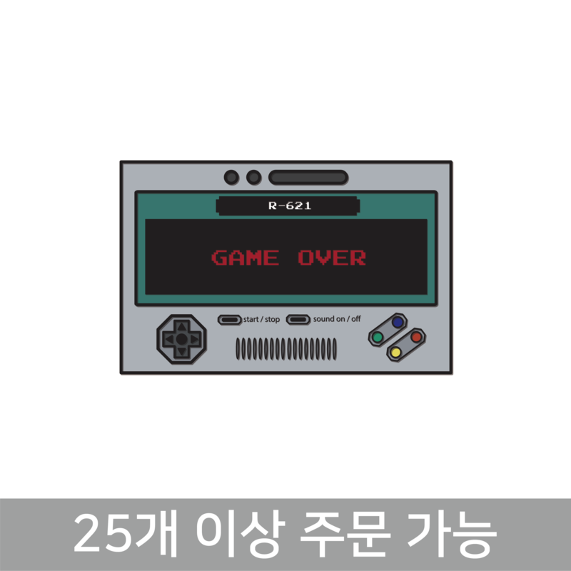 GAME OVER 뱃지